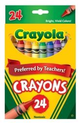 Crayons Crayola regular h/sell bx/24