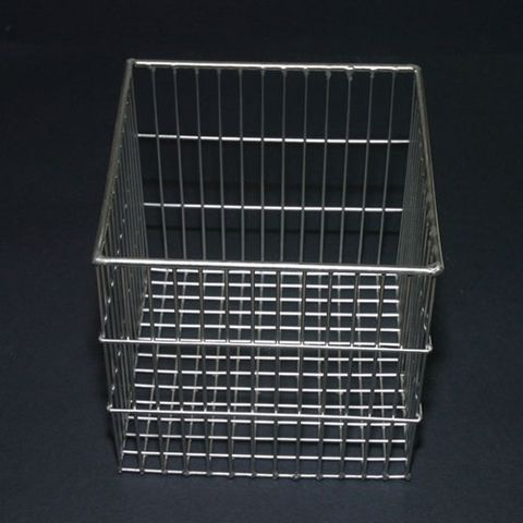 Basket test tube S/S 200x200x200mm