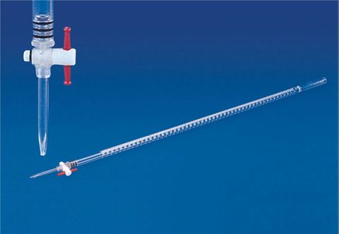 Burette acrylic w/PTFE stopcock 100ml
