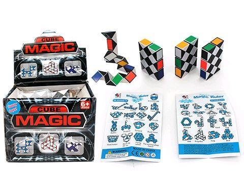 Magic cube snake puzzle