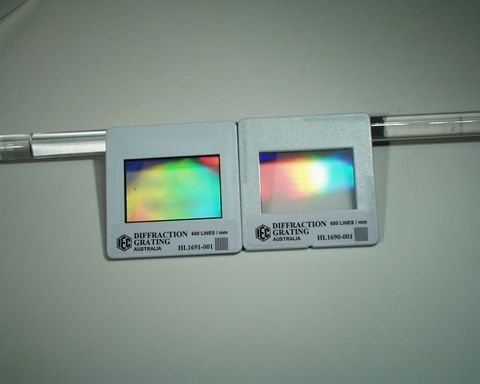 Diffraction grating 500 lines/mm card