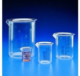Beaker squat TPX/PMP 250ml blue grads