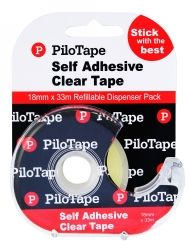 Pilotape clear Tape 18mmx33m w/dispenser