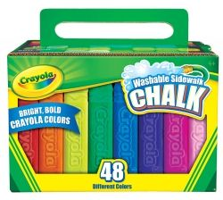 Chalk Crayola washable sidewalk pk/48