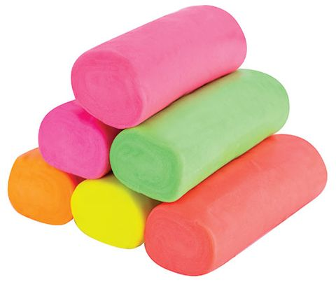 Claydough 900g Neon assorted colours