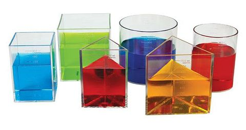 Litre set of six clear containers