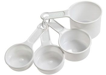 Measuring cups 4p 1/4,1/3,1/2 & 1 cup