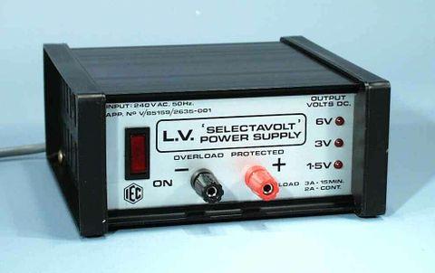 P/Supply 'Selectavolt' 1.5/3/6V DC 2A