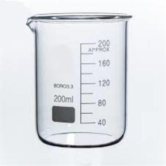 Beaker low form glass 200ml economy