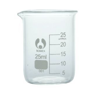 Beaker glass low form economy 25ml
