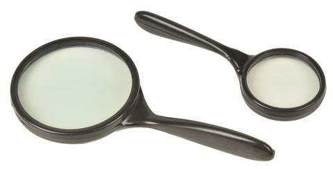 Magnifier reading glass 60mm plas/handle