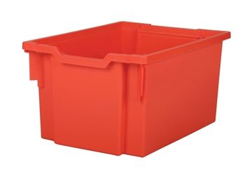 Tray storage extra deep Red 225mm