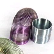 Metallic silly slinky round 56mm