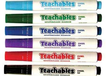 Teachables whiteboard makers chisel tip
