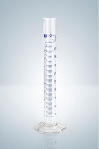 Cylinder measuring glass 50ml blue grad