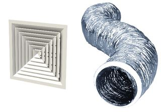 AIR DIFFUSERS & FLEXIBLE DUCTS