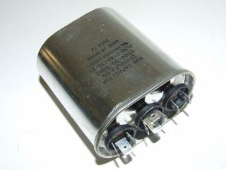 OVAL RUN CAPACTOR 30µF+3µF 370V