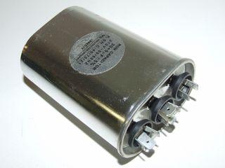 OVAL RUN CAPACTOR 30µF+7.5µF 370V