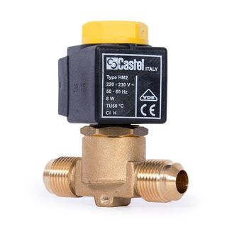 "CASTEL SOLENOID VALVE 1/4"" FLARE 1020/2A"