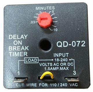 QD-072 DELAY ON BREAK TIMER 0.03~10MINS