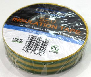 Elect Tape PVC Insulation Stripe GN/YL