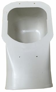PVC WALL INLET CAP 100MM 2 PIECES
