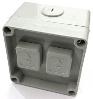 WEATHER PROOF 2 GANG SWITCH 230V 10A