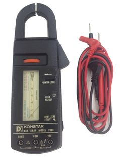 CLAMP METER ANALOGUE WITH LEADS