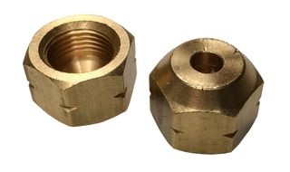 BRASS REDUCING FLARE NUT 3/8 TO 1/4