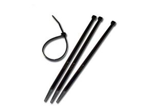 CABLE TIES 2.5x100 BLACK PKT100