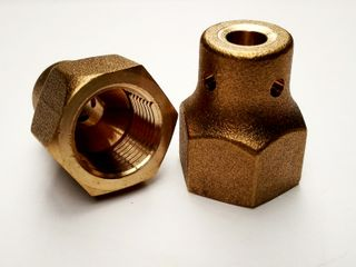 BRASS FROST FREE FLARE NUT 3/8 TO 1/4
