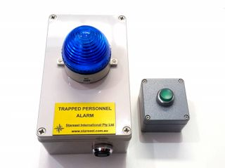 TRAPPED PERSONNEL ALARM 12V BATTERY BACK