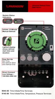 PARAGON COMMERCIAL DEFROST TIMER DIGITAL