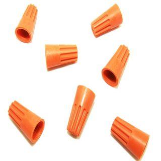 Wire Nuts twist on joints ORANGE 100/pk