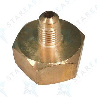 CYLINDER ADAPTOR 1/4 M.I R22,R134A,R404A