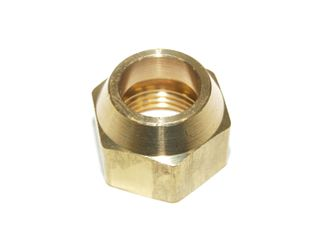 BRASS SHORT BARRELLED FLARE NUT 1/4