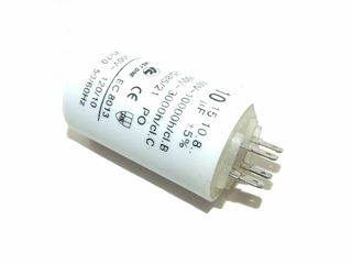 RUN CAPACITOR 10µF NO SCREW PLASTIC