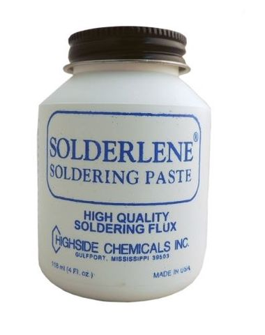 SOLDERLENE LOW TEMP PASTE FLUX 4OZ JAR