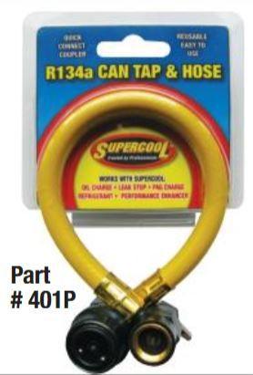 R134A RECHARGE PVC HOSE ANODIZED GOLD CR