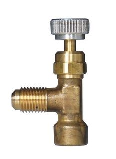 "BALL VALVE 7/16""F TO 1/4""M BRASS ANGLE"