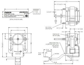 FASCO 6.5W 2P S/S ACW 240V 1SP J05OR02SJ