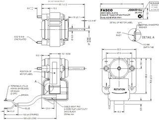 FASCO 8W 2P S/S ACW 240V 1SP J06KR10J DE