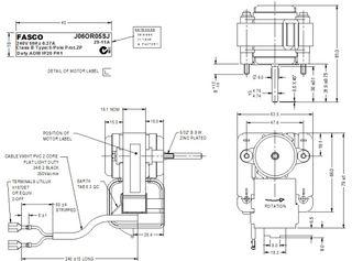 FASCO 4.9W 2P S/S ACW 240V 1SP J06OR05SJ