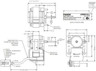 FASCO 4.3W 2P S/S CW 240V 1SP J06BM15J