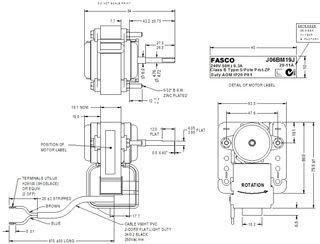FASCO 7.5W 2P S/S ACW 240V 1SP J06BM19J