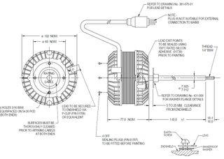 FASCO 15W 4P 1 SPEED S/S ACW 140MM SHAFT