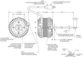 FASCO 15W 4P 1 SPEED S/S ACW 190MM SHAFT