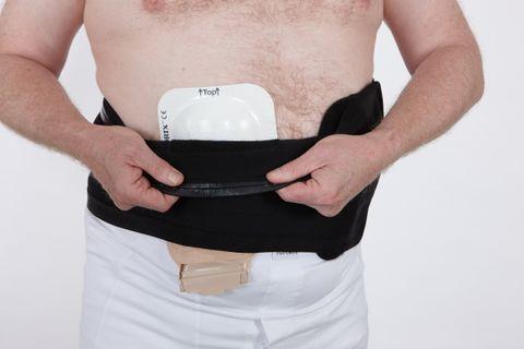 Suportx Shield Belt with EPF -20cm-L-Left-Black Easy Peel Fastening Belt - Black