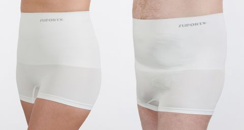 Suportx Breathable-Hernia Support Shorts-L/XL-WH Breathable Support Shorts - White