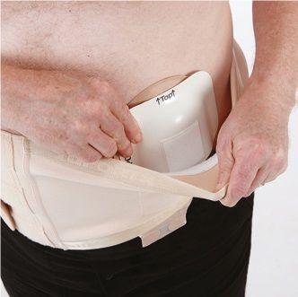 Suportx Shield Belt with EPF -26cm-M-Right-Skin Easy Peel Fastening Belt - Skin